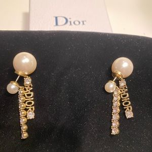 Dior J'adior earrings with faux pearls crystals
